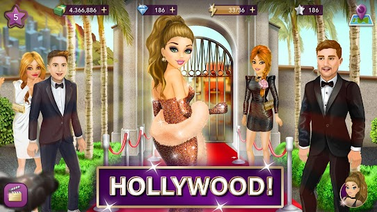 Hollywood Story Mod Apk Fashion Star 9.12.1 (Free Shopping) 1