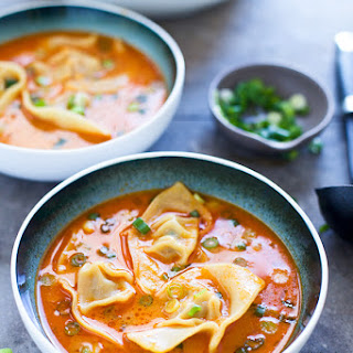Coconut Curry Wonton Soup.