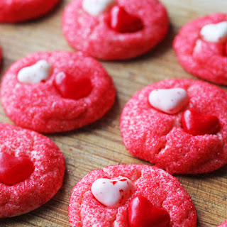 Cake Mix Valentine Cookies
