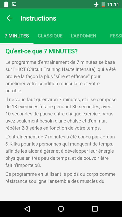 Exceptionnel 7 Minutes Workout – Applications Android sur Google Play QA43