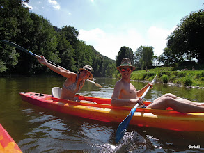 Photo: řeka L`Ourthe, Ardeny
