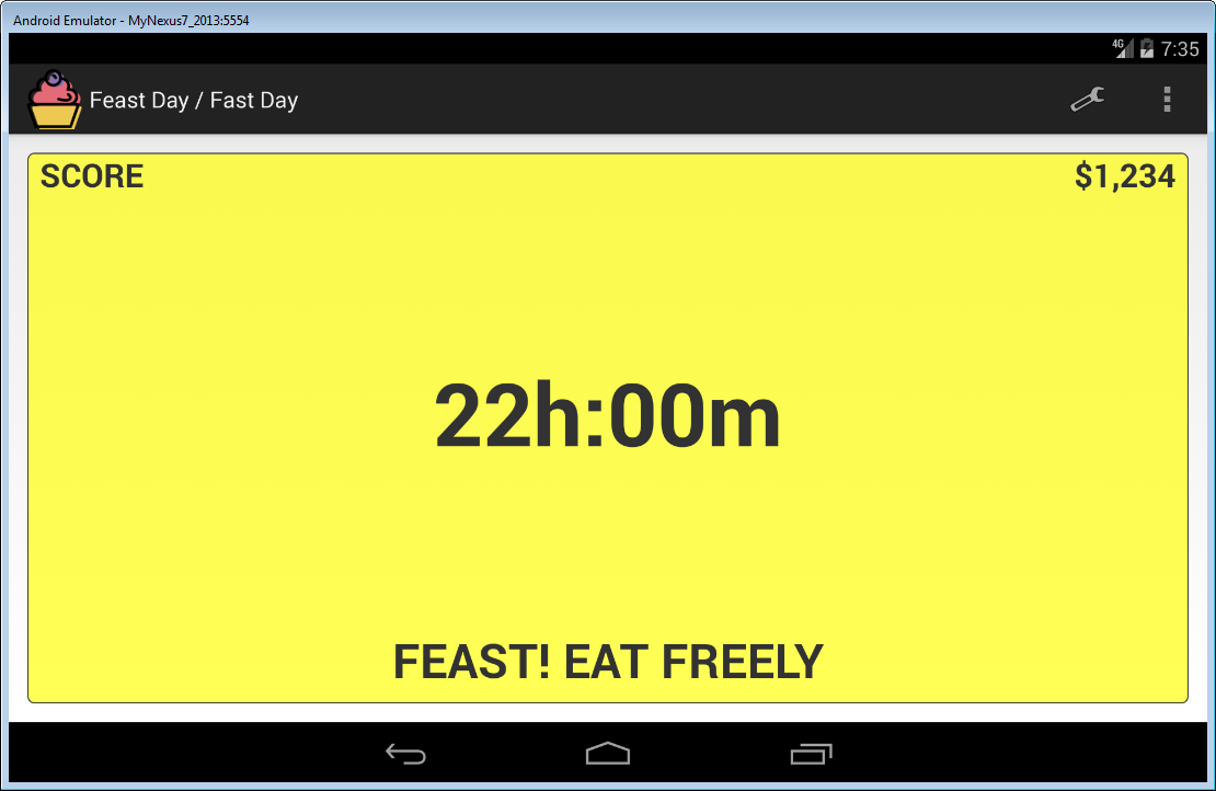 Feast Day Fast Day Cheat Day- screenshot