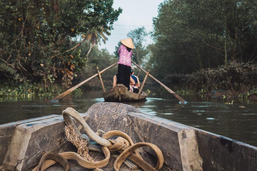 Mekong Delta boat ride.