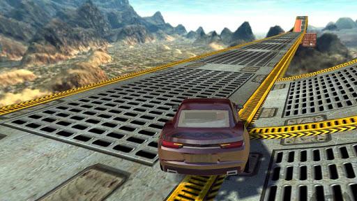 Extreme Impossible Car Racing Stunts Simulator  captures d'u00e9cran 1