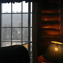 Photo: Vista desde un chalet de L'Auberge du Vieux Moulin