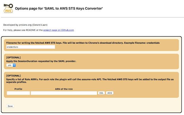 SAML to AWS STS Keys Conversion