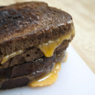Dark Rye Grilled Cheese Sandwiches with Rubbed Garlic