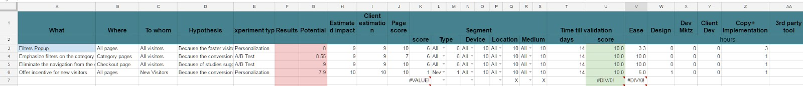 Audit Spreadsheet