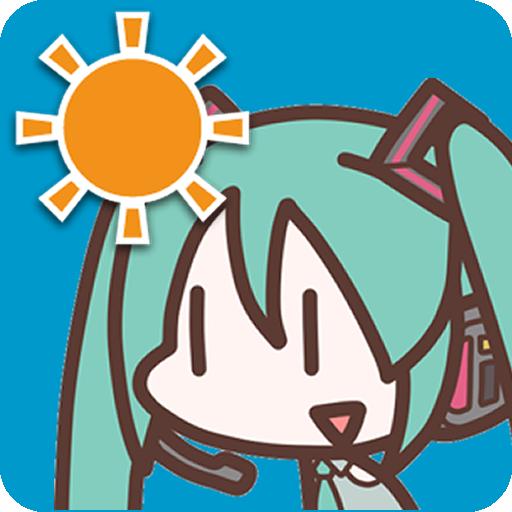 初音ミクの天気予報 天氣 LOGO-玩APPs