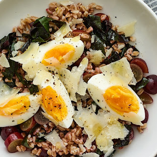 Warm Swiss Chard and Farro Salad With Parmesan.