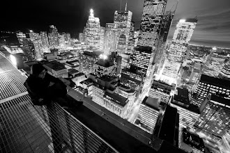 Photo: Maybe I was born to hold you in these arms.  Tags: #toronto, #rooftopping, #skyline, #loveletter, #blackandwhite, #urbex, #urbanexploration