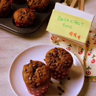 Eggless Coffee Chocolate Chip Muffin.