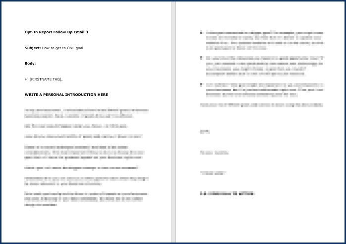 Rapid Results Marketing Formula - OptIn Email 3