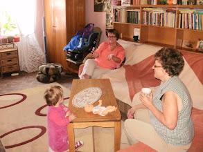 Photo: Böbe nénje és komaasszony társaságában