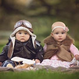 by Lucia STA - Babies & Children Babies ( babies, pilot, dress up, cute, twins )