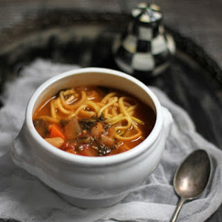 Spinach White Bean Minestrone with Zoodles Recipe