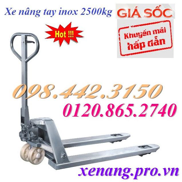 Xe nâng tay inox 2500kg M25S