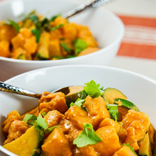 Roasted Pumpkin Coconut Curry.