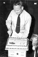 Photo: Virgil Stiller, ENC cuts his promotional cake to E8