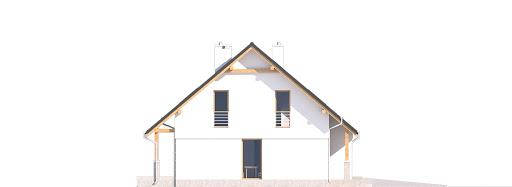 Biała z garażem i wiatą bliźniak A1-BL - Elewacja prawa