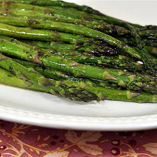 Roasted Asparagus with Browned Butter, Balsamic Vinegar and Soy Sauce.