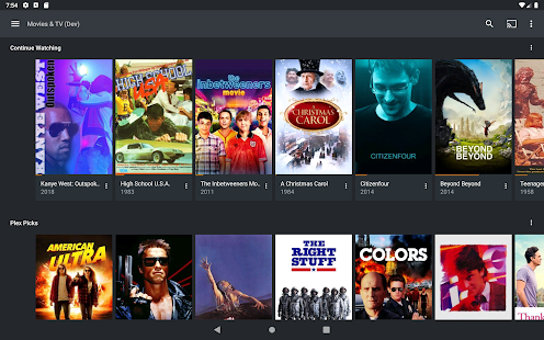 Plex: Stream Movies, Shows, Music, and other Media Capture d'écran