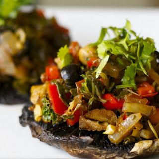 Meaty Flavorful Stuffed Mushrooms (Vegan)