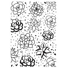 Kaisercraft Embossing Folder 4X6 - Succulents