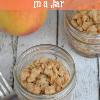 Mini Peach Crisp in a Jar