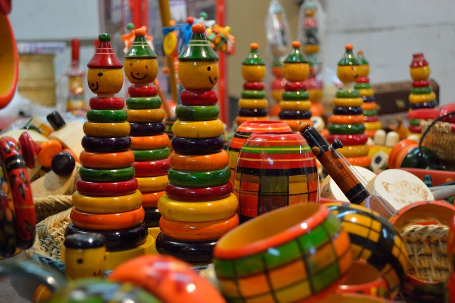 Wooden toys by Shyam Akirala - Artistic Objects Toys ( artistic objects, toys, circles, colors, smile )