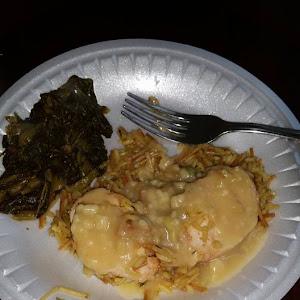 Parmesan Chicken w/ Fried Rice & Gravy