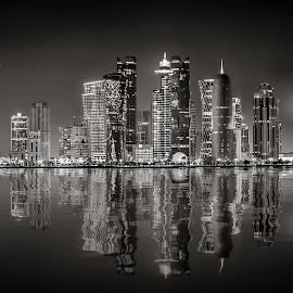 Doha, Qatar by Dmitriy Andreyev - Black & White Buildings & Architecture