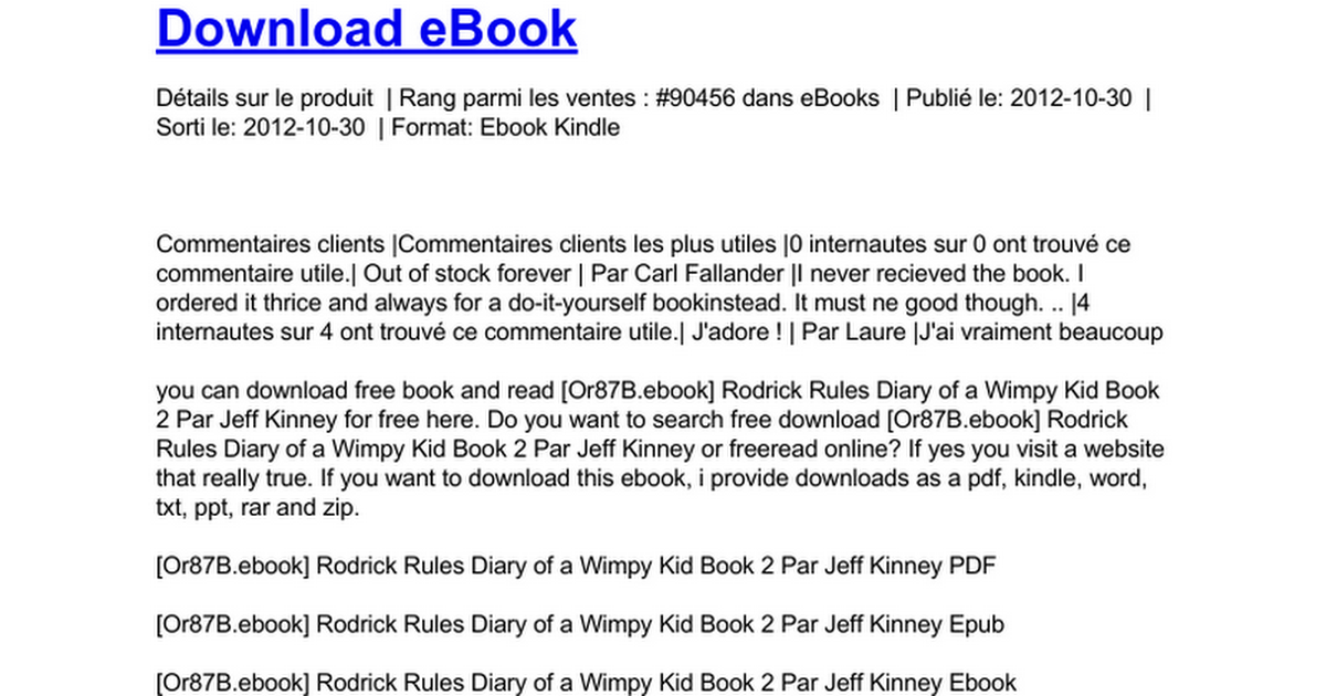 Rodrick Rules Diary Of A Wimpy Kid Book 2 Doc Google Docs
