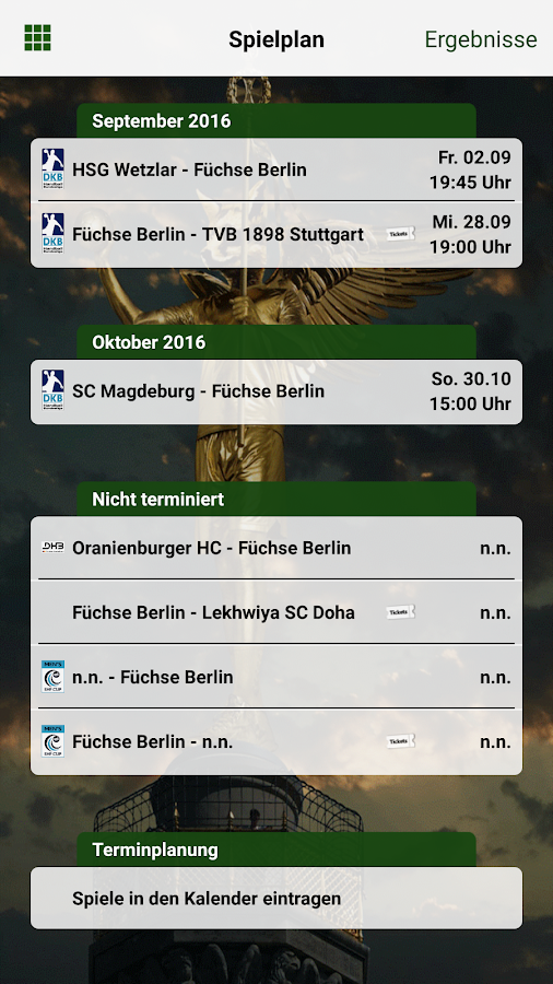 Füchse Berlin- screenshot