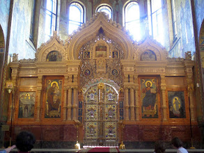 Photo: The alter had intricate woodwork and more mosaics.