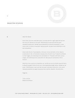Braxton Studios - Letterhead item