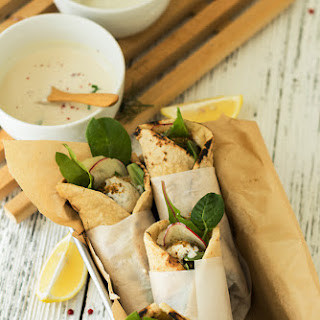 Spinach & Black Rice Falafel Wraps