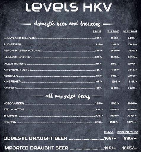 Menu 5 - Levels HKV, Hauz Khas Village, New Delhi