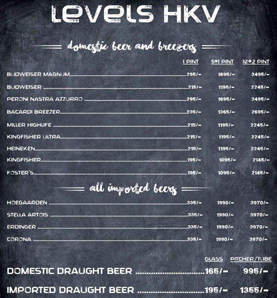 Levels HKV menu 5