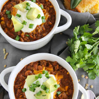 Slow Cooker Spicy Lentil Chili.