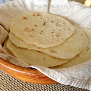 Homemade Sourdough Tortillas.