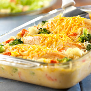 Campbell's Cheesy Chicken and Rice Casserole.