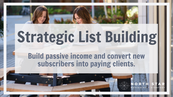 Strategic List Building: Build passive income and convert new subscribers into paying clients
