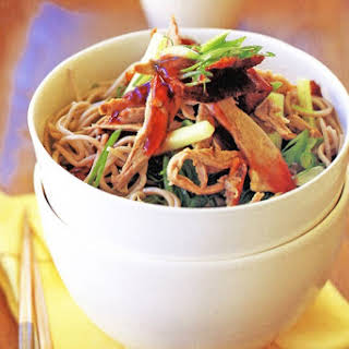 Duck Salad With Noodles And Plum Sauce.
