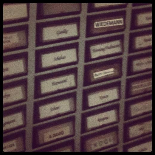 Photo: door names