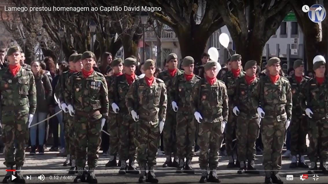 Vídeo - Lamego prestou homenagem ao Capitão David Magno