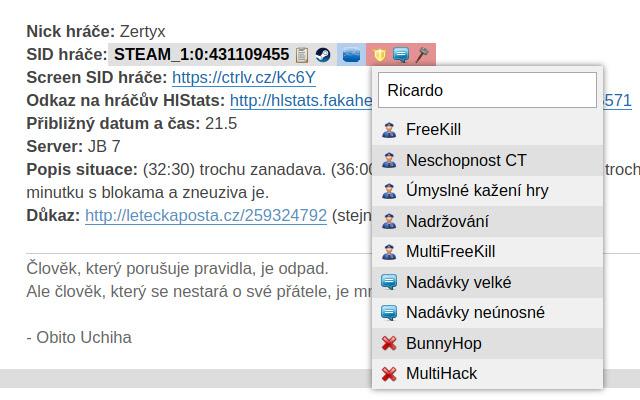 GameSites.cz Forum Tools