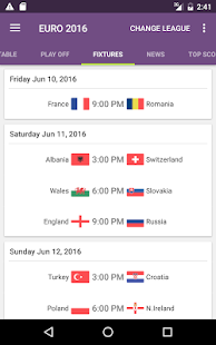 FotMob - Euro 2016 Scores Screenshot 6