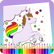 Application De Jeu De Livre De Coloriage Licorne Apk