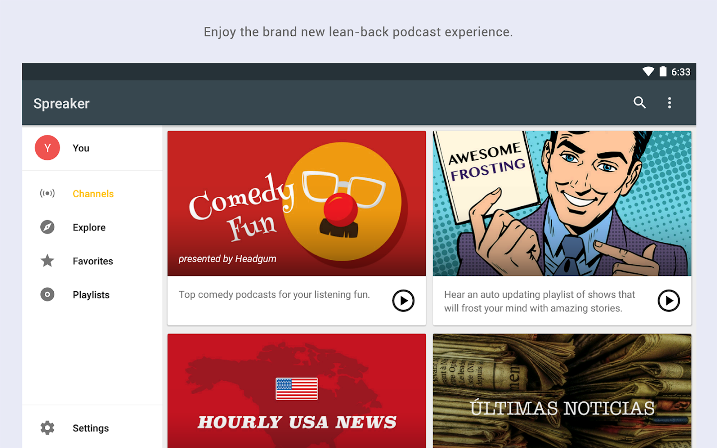 Spreaker Podcast Radio- screenshot